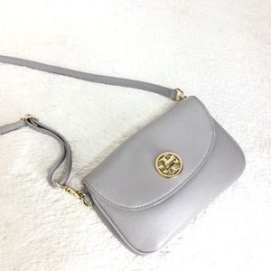 🌸OFFERS?🌸Tory Burch Leather Gray Crossbody